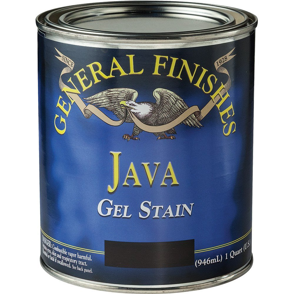 General Finishes JQ Gel Stain, 1 quart, Java