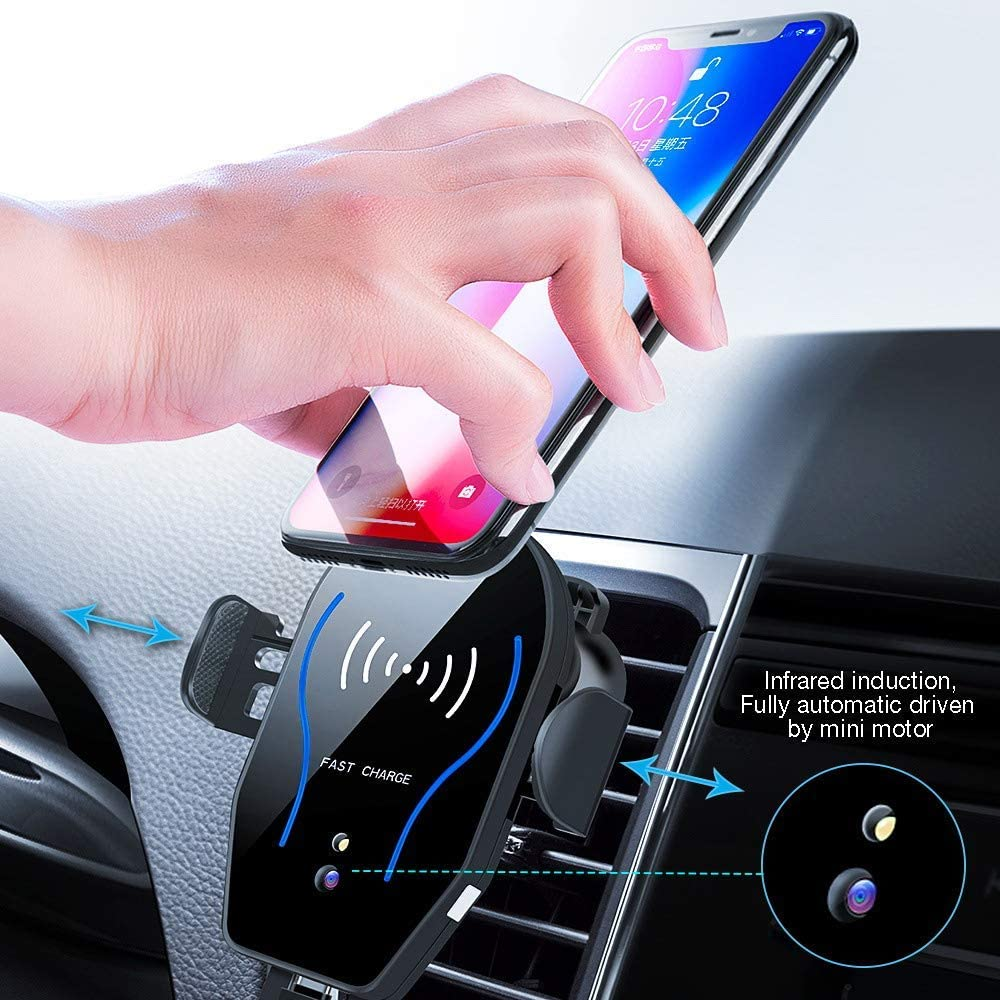VIEE Car Phone Mount with Auto-Clamping 10W//7.5W Qi Fast Charging Air Vent Phone Holder Dashboard Compatible With iPhone X Xs Max Xr and Samsung Galaxy S8 S9 S10 Note 9 Wireless Charger Car Mount