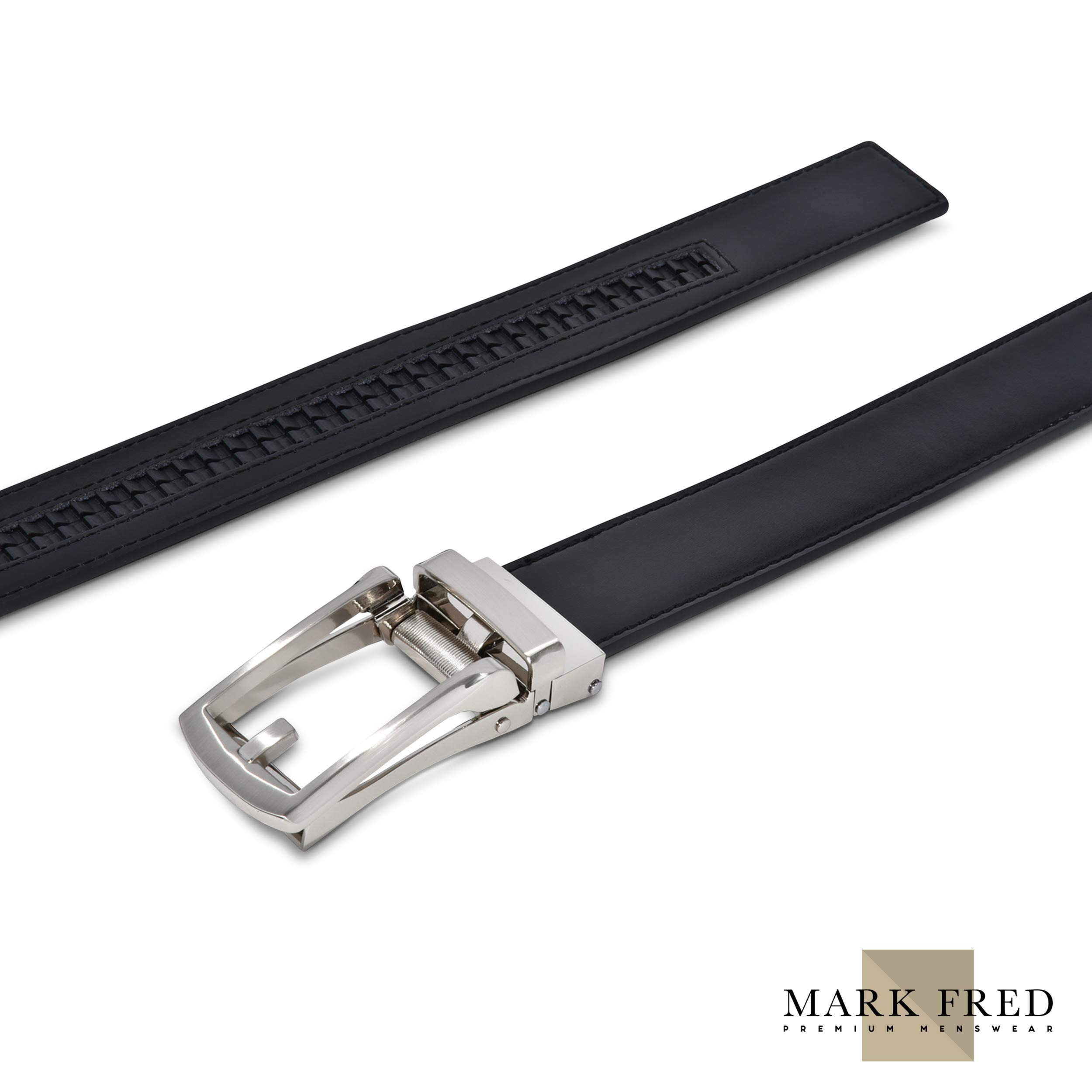 Men/'s Ratchet Dress leather Belt Custom Fit No Holes Automatic Belt Buckle