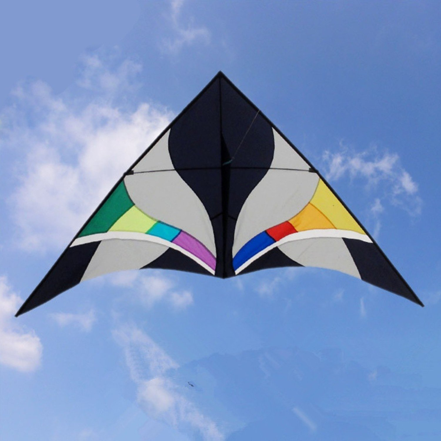 Sky Delta Kite Single Line Outdoor Toy Beautiful With Rainbow Color Very Easy To Fly It, You Will Be Happy It. by Kites