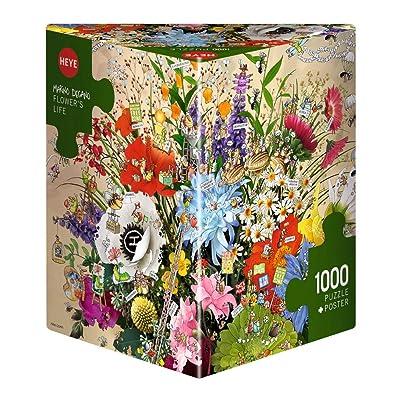 "Heye 29787 ""Flower's Life Degano Triangular Puzzle (1000-Piece): Toys & Games"