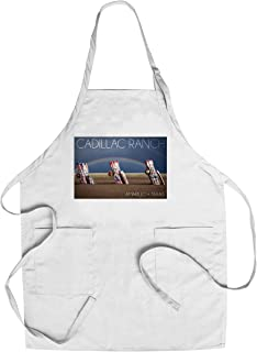 product image for Amarillo, Texas - Cadillac Ranch - Double Rainbow (Cotton/Polyester Chef's Apron)