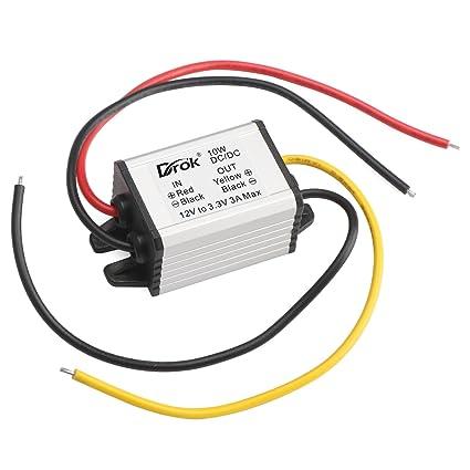 amazon com drok 090601 waterproof auto vehicle voltage reducer dcdrok 090601 waterproof auto vehicle voltage reducer dc dc buck converter 12v to 3 3v