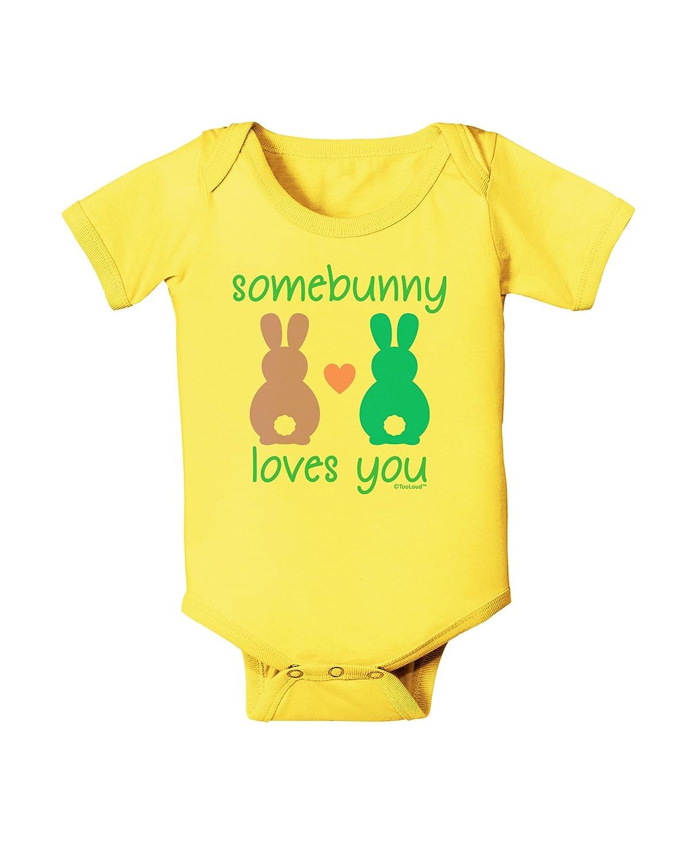 TooLoud Somebunny Loves You Baby Romper Bodysuit