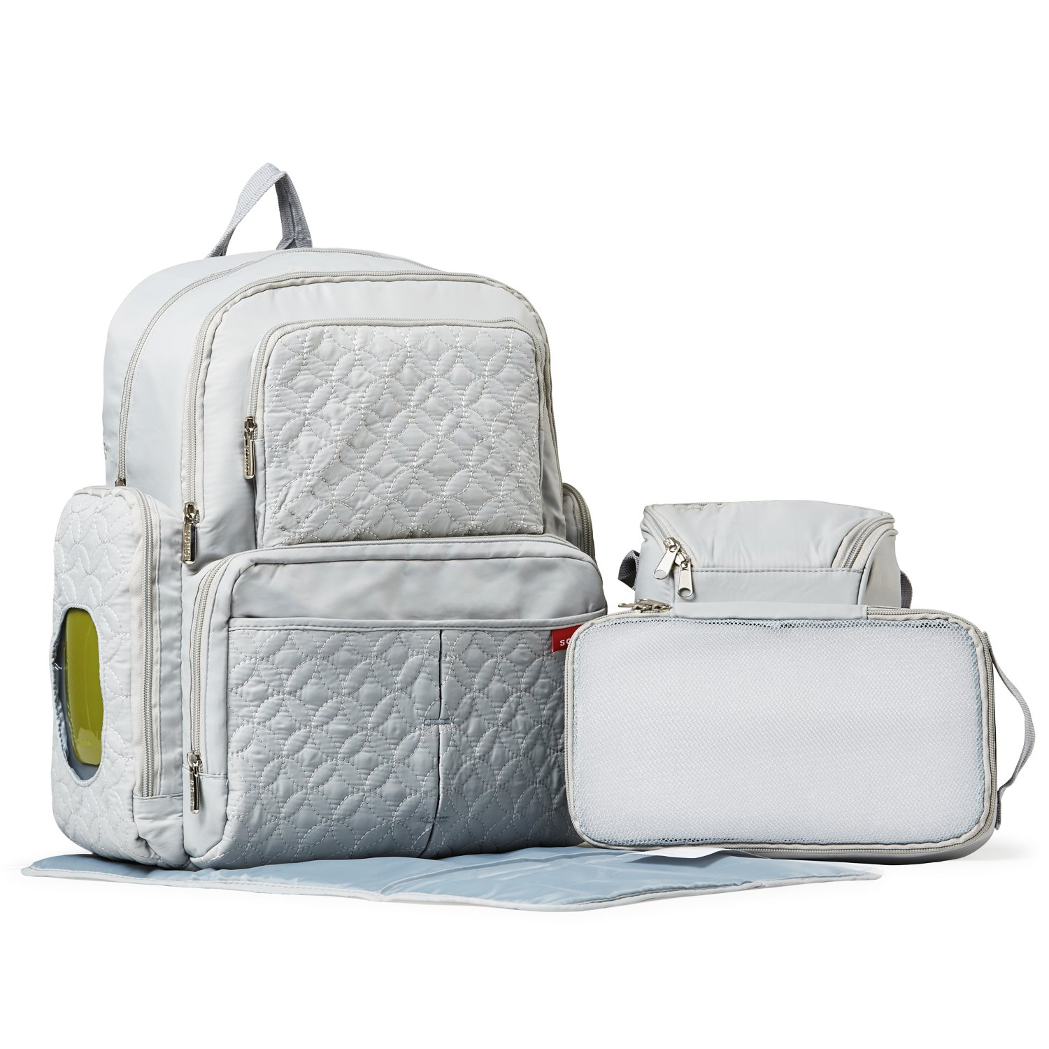 Amazon.com : Diaper Bag Backpack for Mom or Dad with Stroller Straps, Changing Pad, Insulated Pockets, Waterproof Baby Diaper Bag, Organizer Pouches, ...