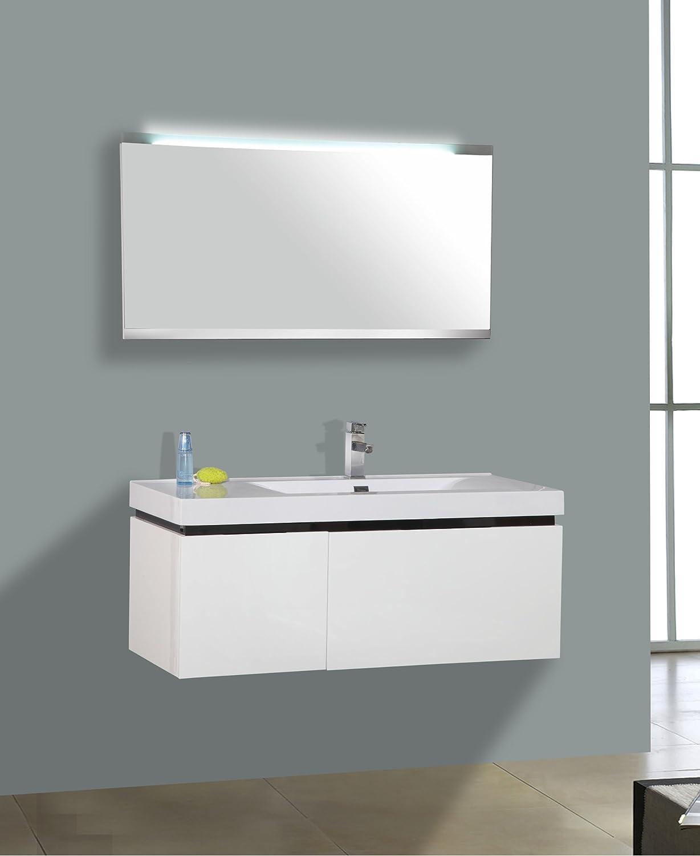 Perfect Spa Badmöbel Set MODERN II Waschtisch Badkeramik LED   Spiegel  Badezimmer Waschbecken Badschrank: Amazon.de: Küche U0026 Haushalt