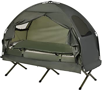 Outsunny All-in One Portable Camping Cot Tent