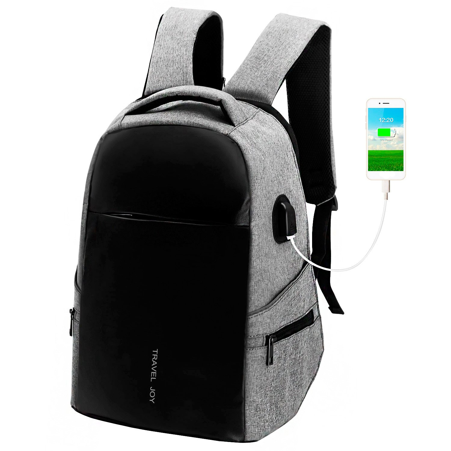 9c01f10bfa20 Laptop Backpack, Slim Business Computer Backpack with USB Charging ...