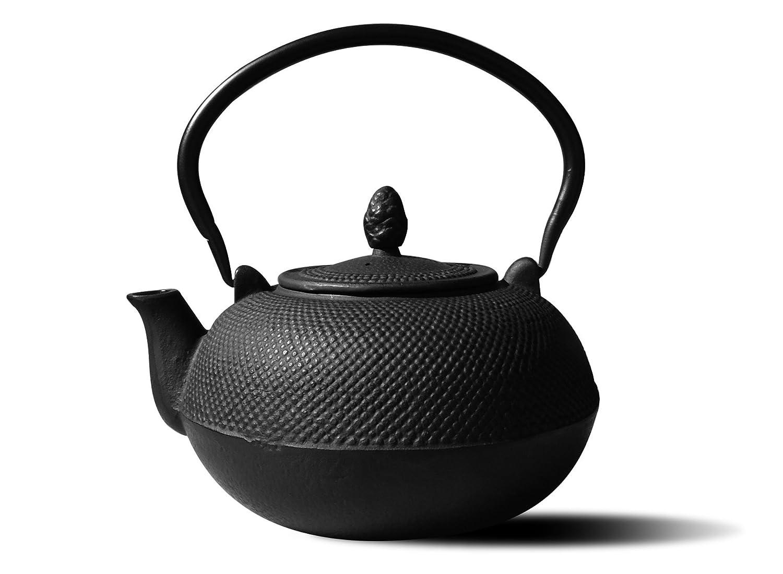 Old Dutch Cast Iron Hakone Teapot/Wood Stove Humidifier, 3-Liter, Matte Black Old Dutch Int'l LTD 1026MB