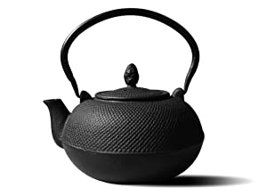 Old Dutch Cast Iron Hakone Teapot/Wood Stove Humidifier, 3-Liter, Matte Black
