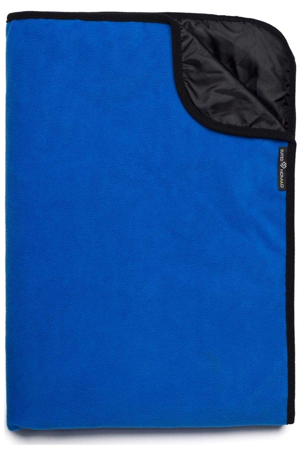 SuitedNomad 30°F Extreme Weather Stadium Blanket with Thermal Reflective Liner, XL Waterproof Windproof Fleece Outdoor Blanket,Patent Pending Desing Great for Cold Weather Camping,Sports,Festivals