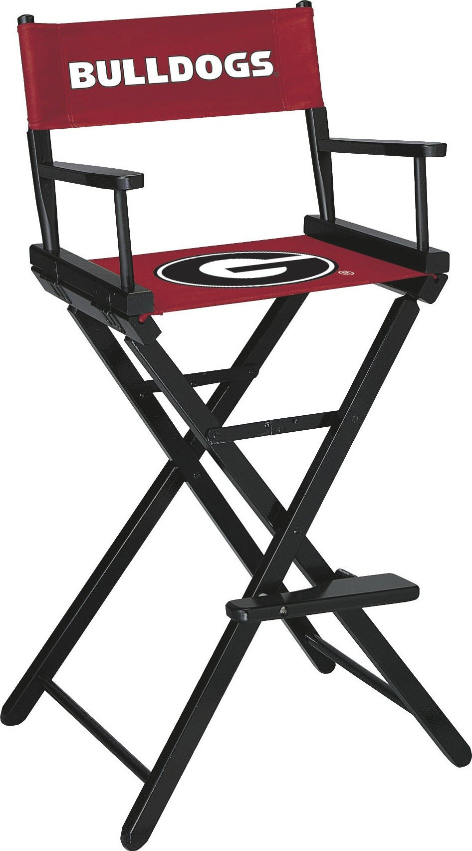 Imperial Officially Licensed NCAA Merchandise: Directors Chair (Tall, Bar Height), Georgia Bulldogs