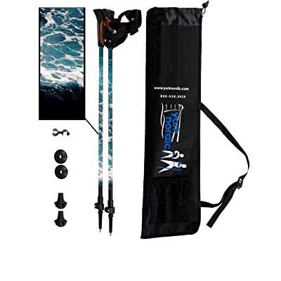York Nordic Adjustable Walking Poles - Lightwei...