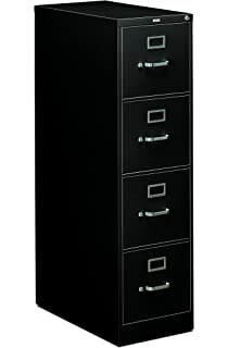 HON 4 Drawer Office Filing Cabinet   310 Series Full Suspension Letter File  Cabinet