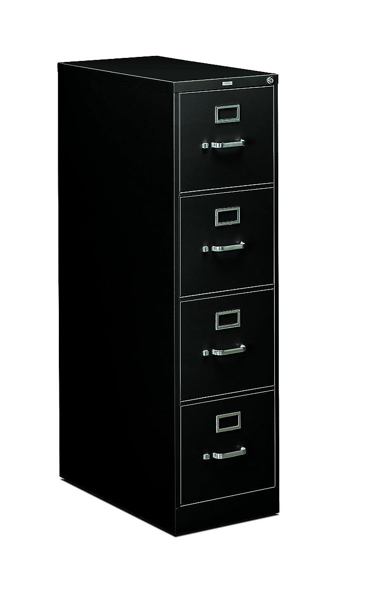 "HON 4-Drawer Office Filing Cabinet - 310 Series Full-Suspension Letter File Cabinet, 26.5"" D, Black (H314)"