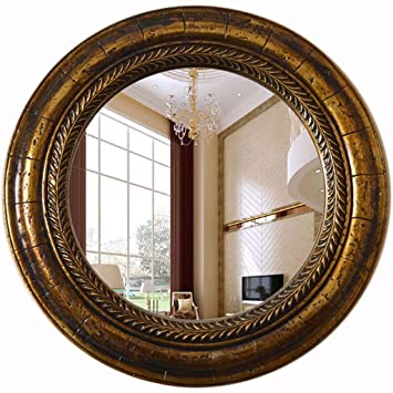 Rond Miroir Mural Style Retro Chic Miroir Suspendu Art