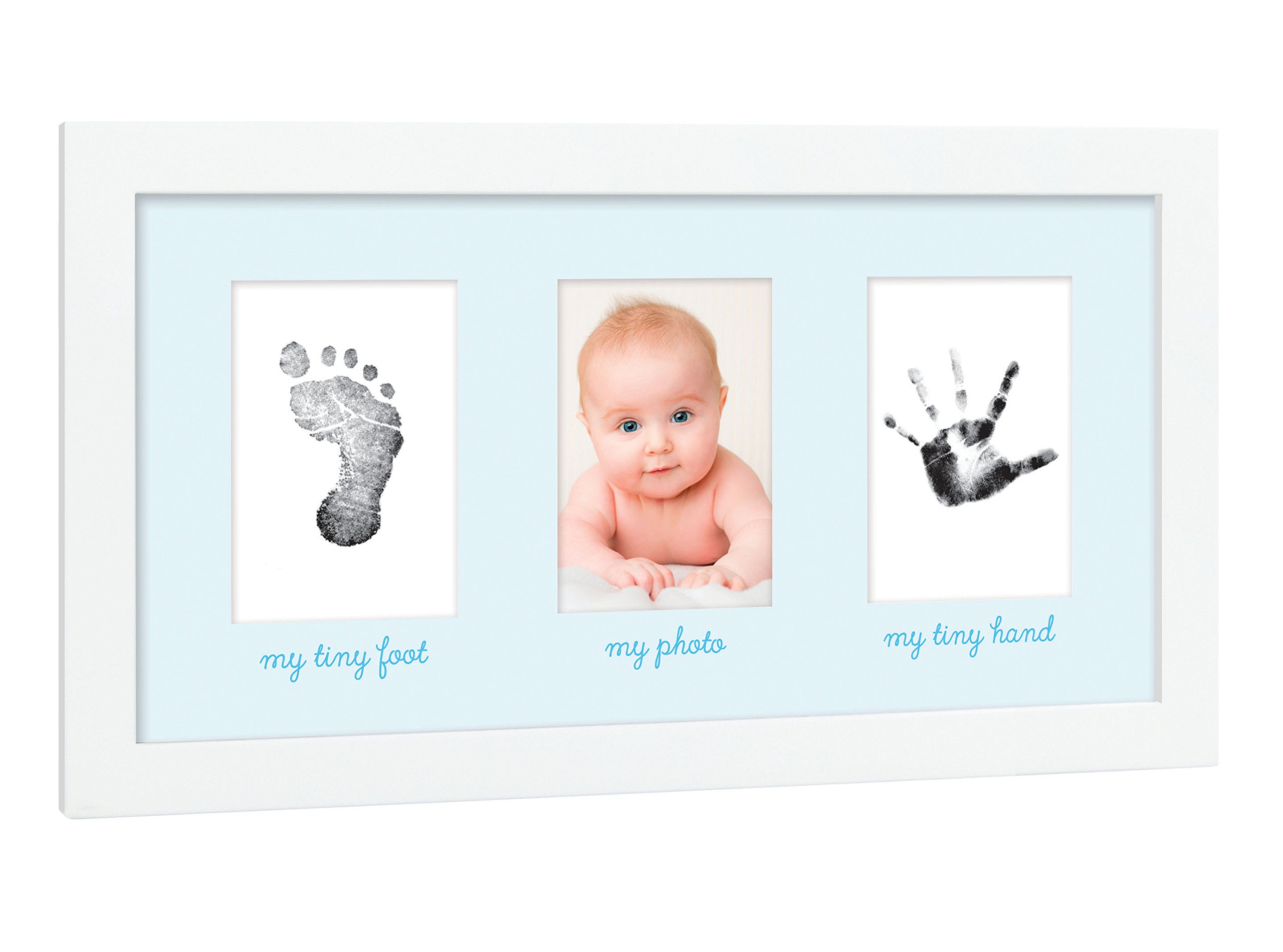 Amazon.com : Tiny Ideas Baby\'s Print Handprint or Footprint Keepsake ...