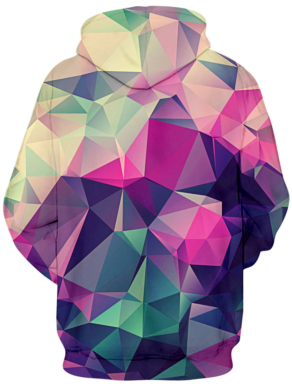 TUONROAD Unisex 3D Digitaldruck Lila Dreieck Kapuzenpullover Langarm Liebhaber Pullover Sweatshirts Langarm Top Männer Gedruckt Hoodie