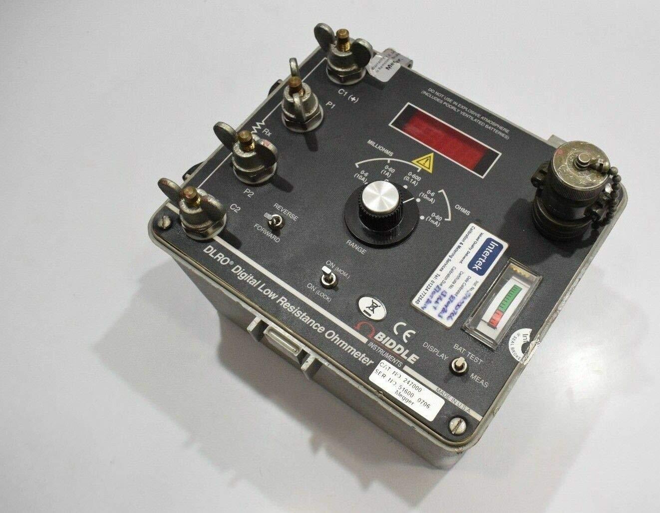Biddle 247000 Dlro Digital Low Resistance Ohmmeter Amazon Com Industrial Scientific