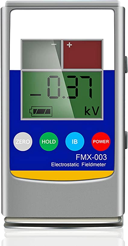 NEWTRY Medidor de campo electrostático digital de mano 0 ~ 20KV Probador de equilibrio de iones portátil 0 ~ 200V para fibra de hilo, tela, alfombra, tablero de papel de goma