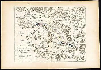 Amazon Com Antique Map Battle Taisnieres Quievrain Hons Mons France