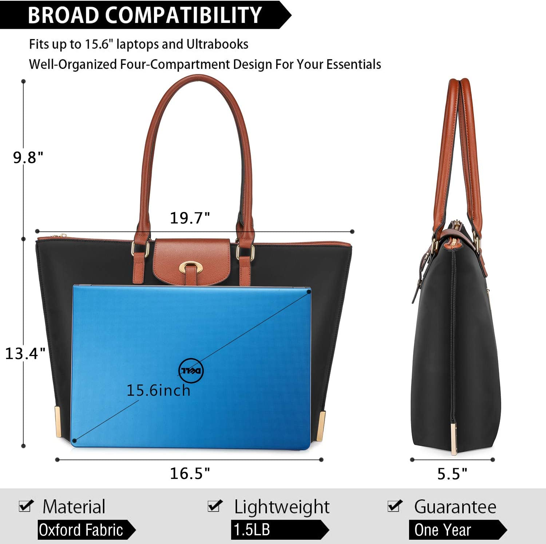 Realer Laptop Damen Handtasche 15,6 Zoll Arbeit Shopper Tasche Nylon Gro/ße Leichte Stilvolle Frauen Handtaschen Elegant Taschen Blau f/ür Business//Schule//Reise//Einkauf