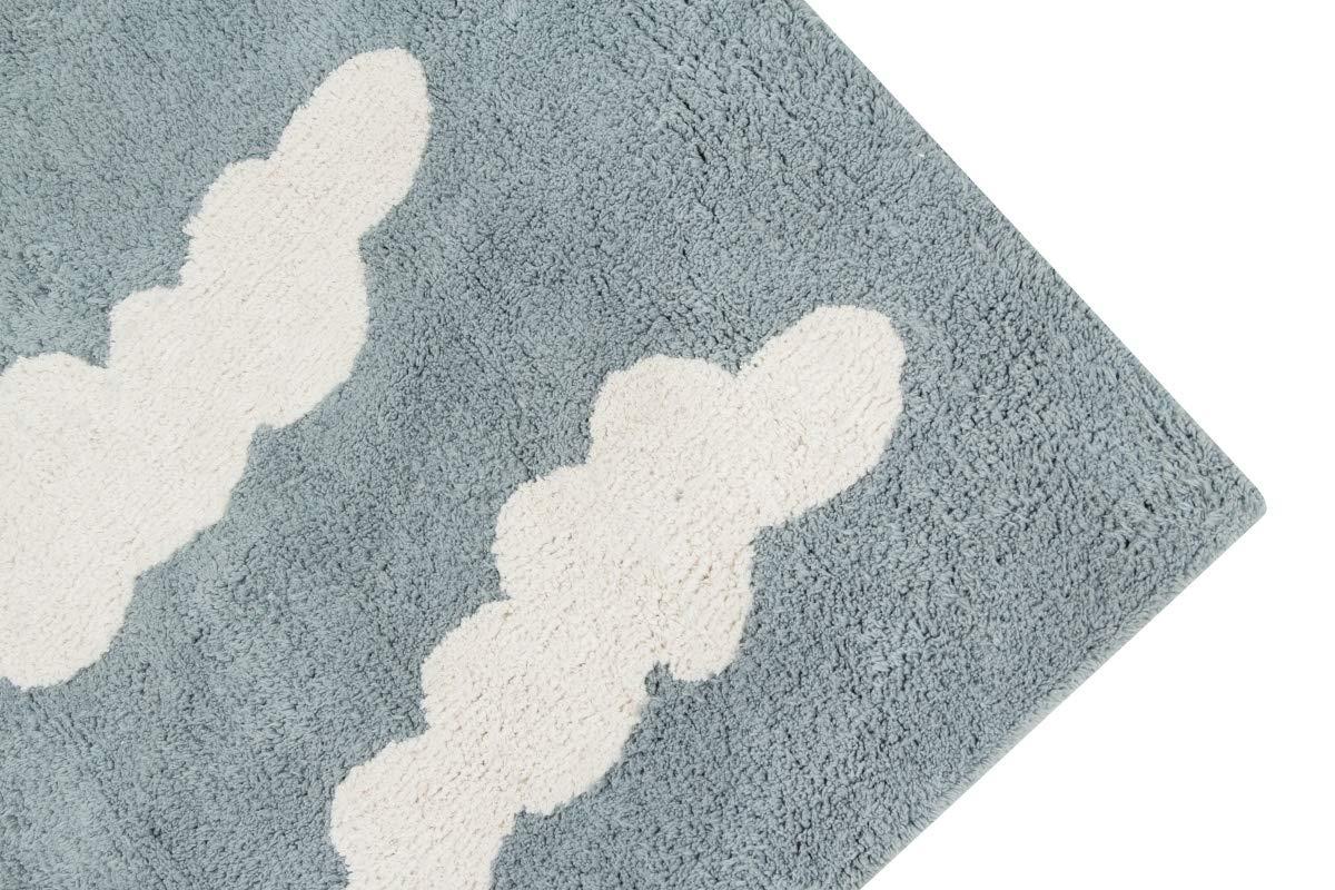 120/x 160/x 30/cm Coton Lorena Canals Nuages Lavable Tapis Gris