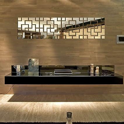 Buy Fashion Creative Design 48D Crystal Mirror Surface DIY Wall Simple 3D Home Interior Design Online Creative