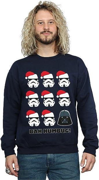 Star Wars hombre Christmas Humbug Camisa De Entrenamiento: Amazon.es: Ropa y accesorios