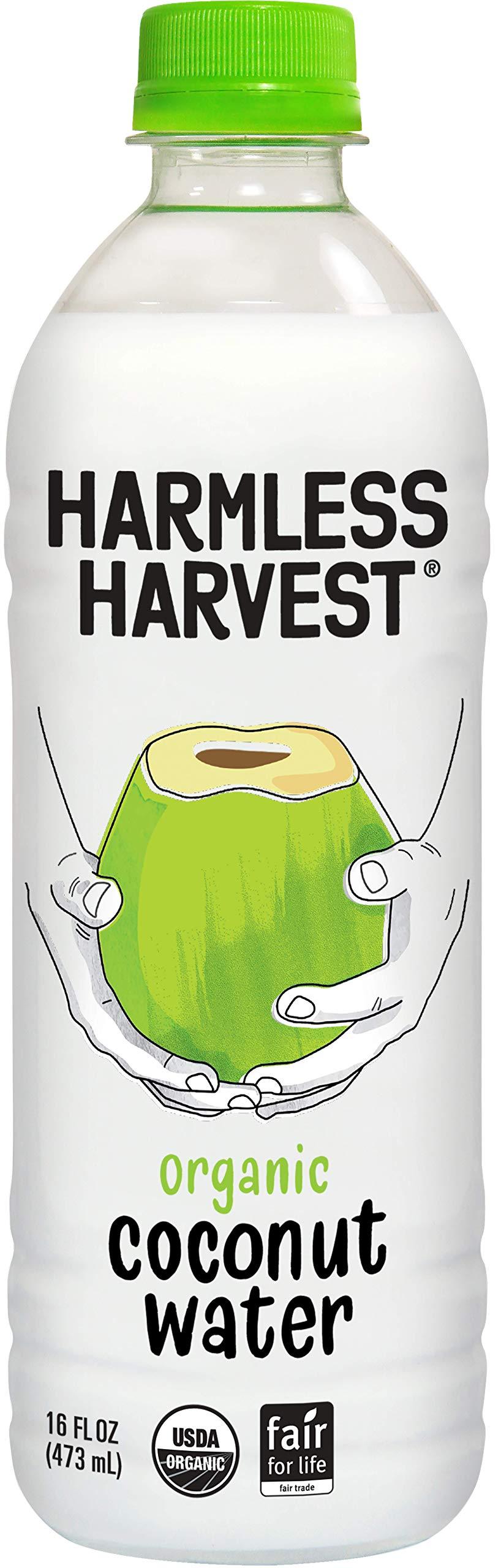 Harmless Harvest Organic Coconut Water, Original 16 Fl Oz, Pack of 12