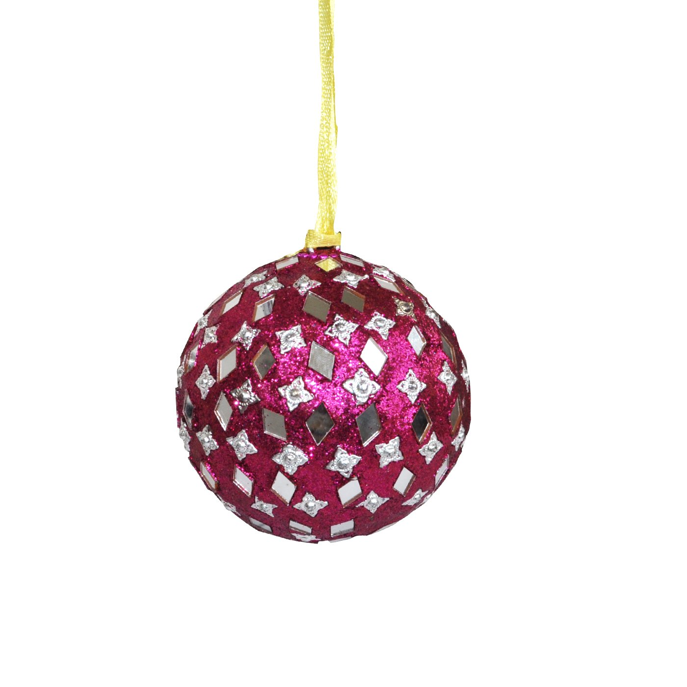 Big Sale Offer Christmas & New Year - Dungri India Craft Decorative Christmas Ornament - Holiday Decorations Hanging Christmas Tree Ornaments Xmas Gift Pink Colour