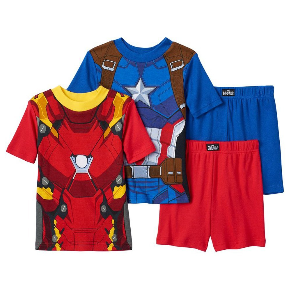 55d9672e18 Amazon.com  Marvel Boys Captain America Civil War Pajamas (6)  Clothing