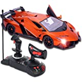 New Licensed Lamborghini Veneno 1:14 Scale RC Car, Electric Sport Radio Two-handed Remote Control Gravity Sensor, Rechargeable NiCd Batteries & Charger Included, Bright Headlights Rearlights