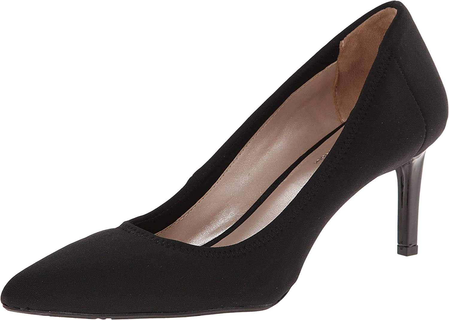DKNY Eviey Women Pointed Toe Leather Heels Black Size 9.0