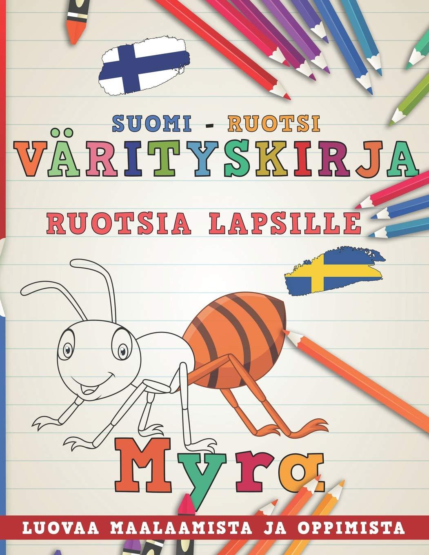 Värityskirja Suomi - Ruotsi I Ruotsia lapsille I Luovaa ...