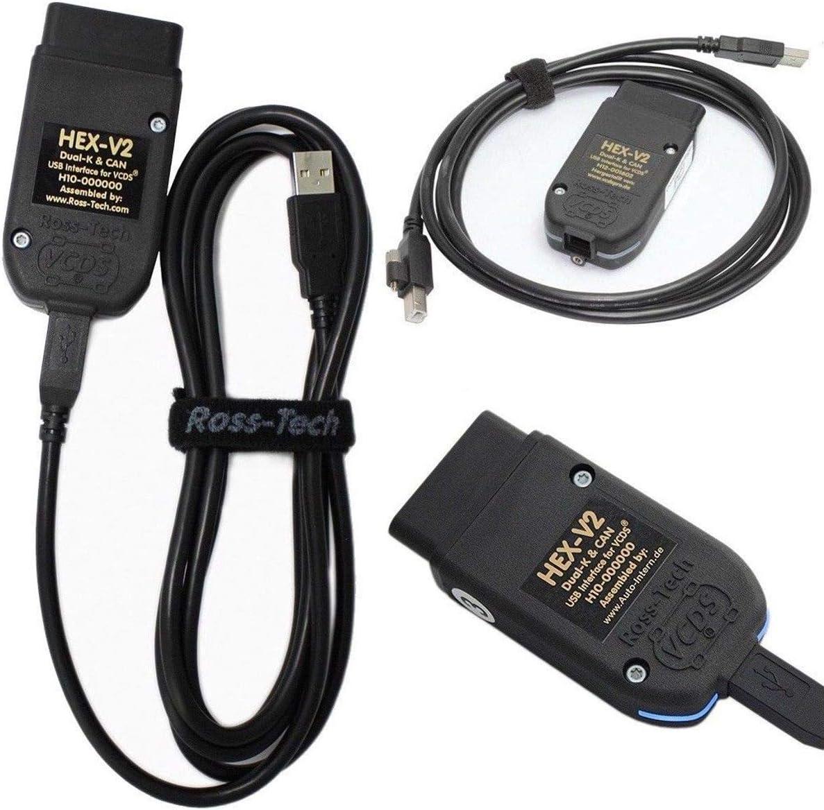 Auto OBD2 Diagnoseger/ät Diagnostic System 19.62 HEX USB-CAN-Schnittstelle Auto-Diagnosewerkzeuge OBD-II Diagnosescannerkabel