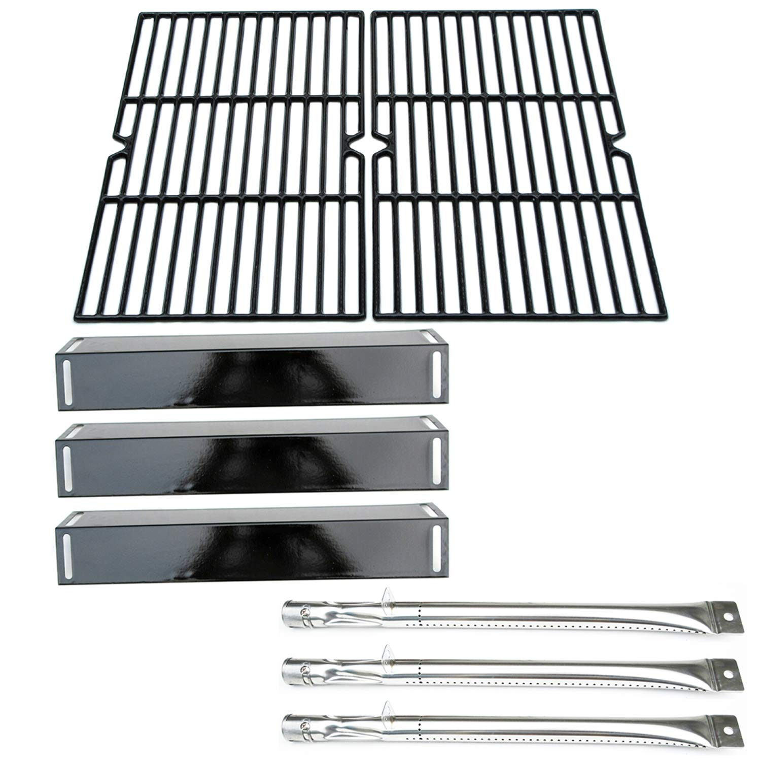 Direct store Parts Kit DG118 Replacement BBQ Grillware GGPL-2100 Gas Grill Burners, Heat Plates, Cooking grids