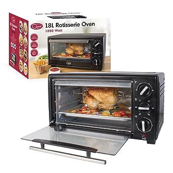 Quest 35390 Mini 18-Liter Rotisserie Oven