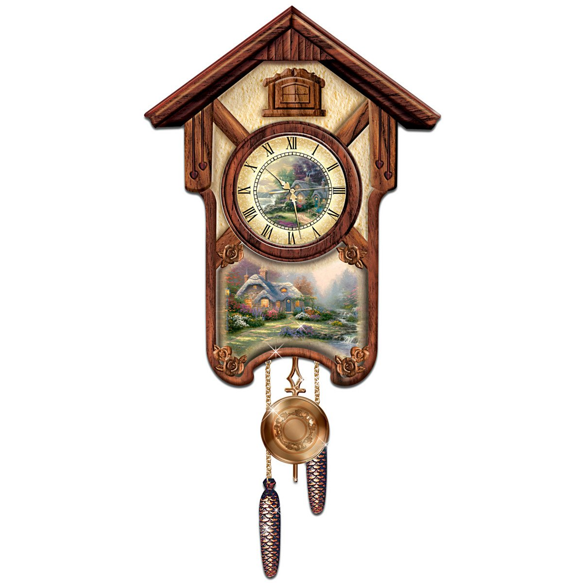 Thomas Kinkade Timeless Memories Cuckoo Clock by Thomas Kinkade