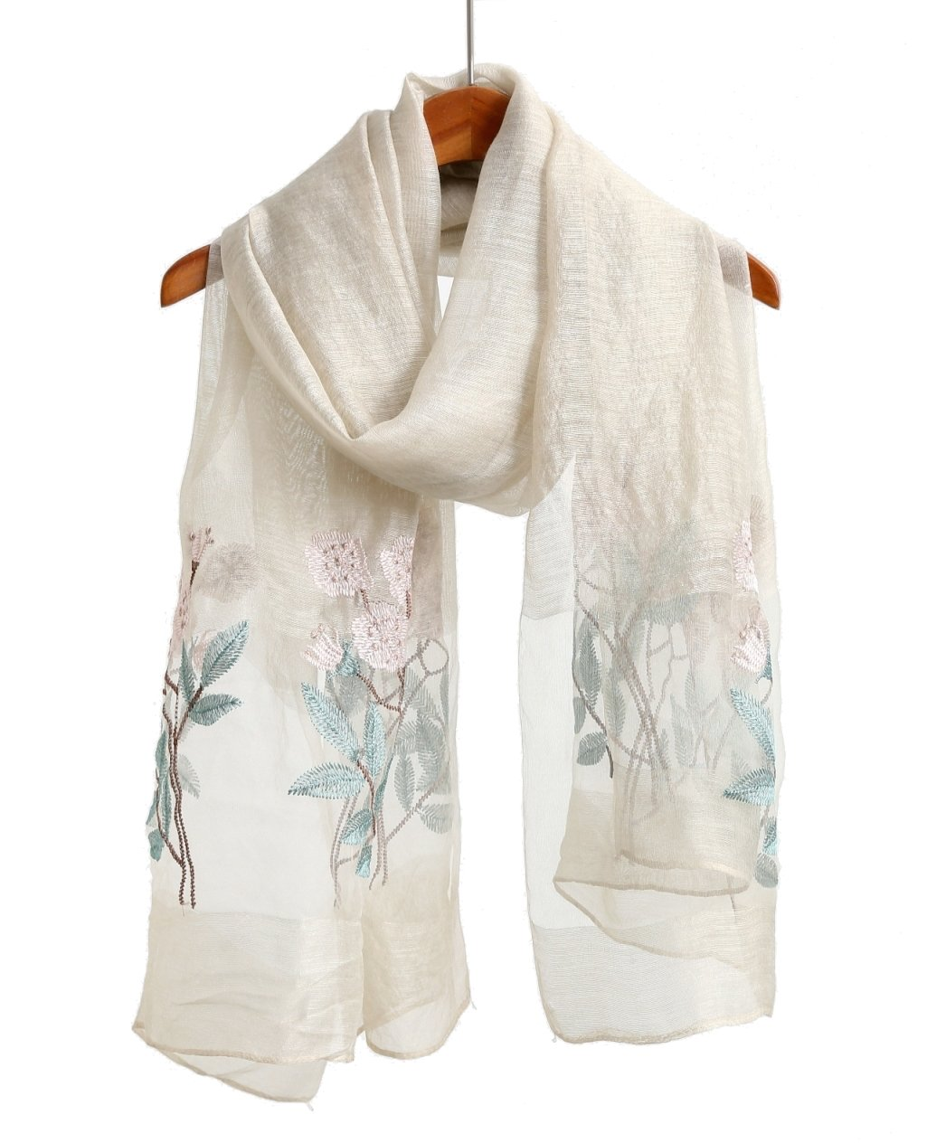 Light Beige Floral Winter Blanket Scarfs For Men And Women, Cashmere Like Pashmina Shawls And Wraps Scarves Solid color (bluee Tone)