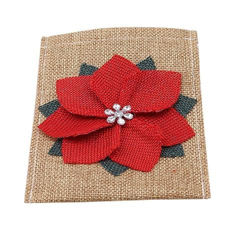 L_Shop - Cubertería de Navidad para decoración de mesa, decoración de flores, bolsa de