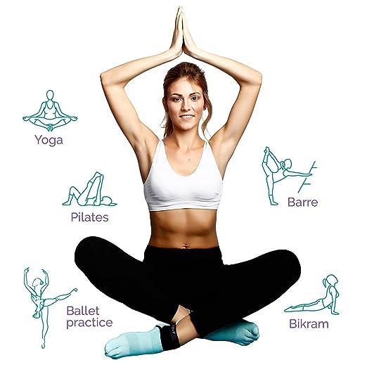 Desconocido Producto Super Agarre Yoga Calcetines - 3 Pack ...
