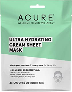 product image for Acure Cream Sheet Mask - 00% Vegan, Intense Moisture For Super Thirsty Skin - Adaptogens, Squalane & Supergreens - Single Use, 0.67 Fl Oz Ultra Hydrating 1 Count