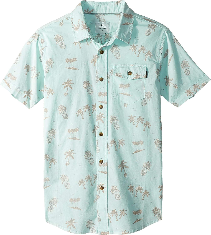Big Kids Rip Curl Kids Boys Poolside Short Sleeve Shirt