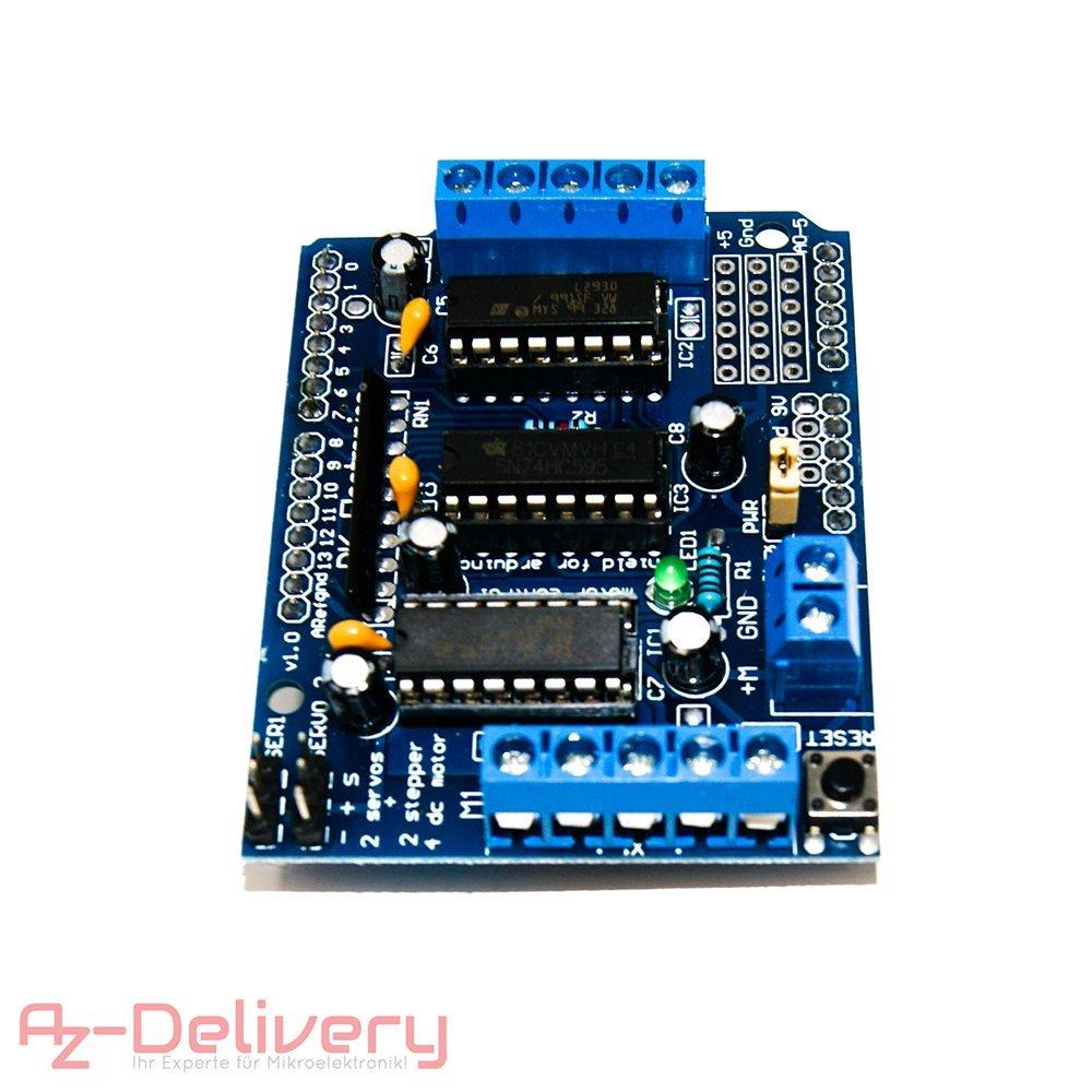 AZDelivery ⭐⭐⭐⭐⭐ A4988 DMOS Stepper Motor Driver RepRap RAMPS ARDUINO komplett mit Stiftleisten und K/ühlk/örper!