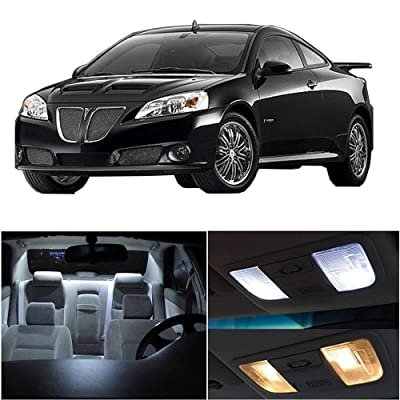 cciyu LED Bulb LED Interior Lights 7pcs White Package Kit Accessories Replacement Replacement fit for 2005-2010 Pontiac G6: Automotive