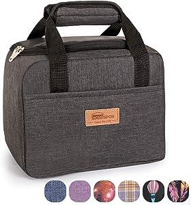 HOMESPON Insulated Lunch Bag Lunch Box Cooler Tote Box Cooler Bag Lunch Container for Women/Men/Children/School/Work/Picnic,dark grey