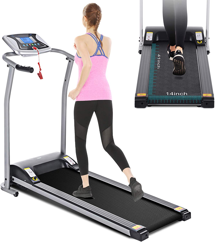 Folding Treadmill Support Walking Motorized Power Running Home Fitness Machine
