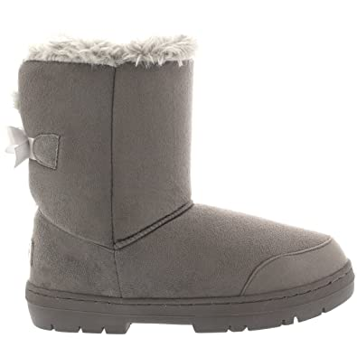 the best attitude b97a4 9a178 Damen Schuhe Single Schleife Fell Schnee Regen Stiefel Winter Fur Boots