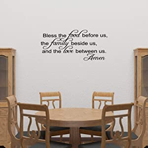 Bless The Food Before Us Vinyl Wall Decal Quotes